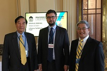Prospect Foundation Chairman Tan-sun Chen and Taiwan Foundation for Democracy President Hsu Szu-chien met with Forum 2000 Foundation Executive Director Jakub Klepal in Prague.