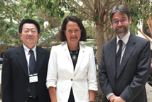 2018-09-08_TFD Attends AHRI Annual Conference and Visits Partners in the U.K._From left to right: TFD President Liao, Catherine West MP,   Director Tedards