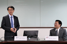 2019/07/30_Signing of the MOU with the Institutum Iurisprudentiae, Academia Sinica_Director Lee gave remarks