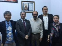 Group photo with  President Jamel M'Sallem from Tunisian Human Rights League (LTDH) and its members