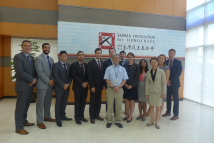 A 11-member delegation of US Congressional staff's visit at the TFD - 4.	The delegation takes a group photo with Dr. Hsu Szu-chien at the TFD. The delegation members are:  Mr. Juan Lopez, Chief of Staff to Rep. Jim Costa (D-CA); Ms. Erin O'Quinn, Legislative Director to Rep. Ami Bera (D-CA); Mr. Brian Winseck, Economic Policy Advisor to Sen. Chris Coons (D-DE); Mr. Bradley Middleton, Education Policy Advisor to Sen. Dick Durbin (D-IL); Mr. Tyler Grimm, Legislative Director to Rep. Darrell Issa (R-CA); Mr. Don Andres, Senior Policy Advisor to Rep. Steve Cohen (D-TN); Mr. Jeffrey Kuckuck, Senior Legislative Assistant to Rep. Andy Biggs (R-AZ); Ms. Molly Cole, Legislative Assistant to Rep. Gerry Connolly (D-VA); Mr. Shane Smith, Special Assistant to Rep. Joseph Crowley (D-NY); Ms. Renuka Nagaraj, Legislative Counsel to Rep. David Cicilline (D- RI); Mr. Maurice Velazco, Legislative Assistant to Rep. Val Demings (D-FL); Ms. May Lin, Senior Officer, Congressional Liaison Division of TECRO.