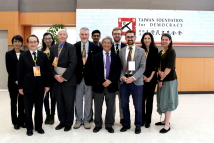 A delegation of journalists from U.S. East-West Center's 2017 Asia Pacific Journalism Fellowship visits TFD