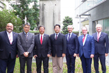 Visit of  the delegation of Legislature of state of Hesse - Group photo (left to right: Mr. Markus Meysner, Dr. Peng, Mr. Ismail Tipi, VP Lu, Mr. Heiko Kasseckert, Mr. Bodo Pfaff-Greiffenhage, and Mr. Ulrich Caspar)