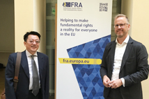2018-10-03~2018-10-13_TFD Attends Forum 2000 conference in Prague and Visits Partner Institutions in Europe_TFD President Liao (L) with European Union Agency for Fundamental Rights , Senior Policy Manager Dr. Jonas Grimheden