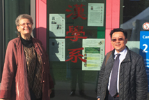 2018-10-03~2018-10-13_TFD Attends Forum 2000 conference in Prague and Visits Partner Institutions in Europe_TFD President Liao (R) with Vienna Center for Taiwan Studies in University of Vienna, Dr. Astrid Lipinsky