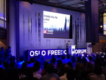 TFD President Liao spoke at the Oslo Freedom Forum in Taiwan